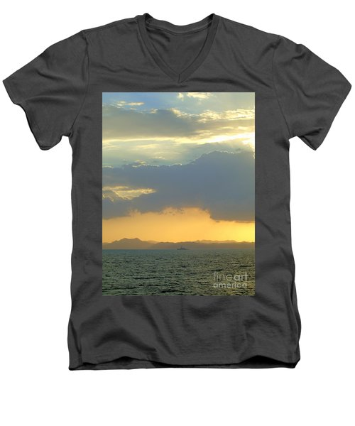 Sunrise After The Typhoon Men's V-Neck T-Shirt