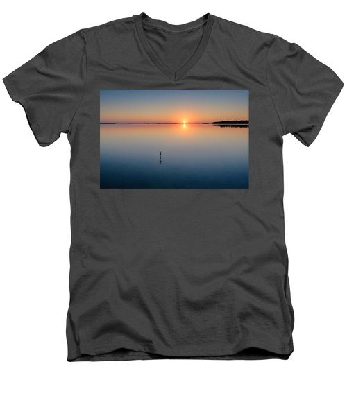 Sunrise Along The Pinellas Byway Men's V-Neck T-Shirt