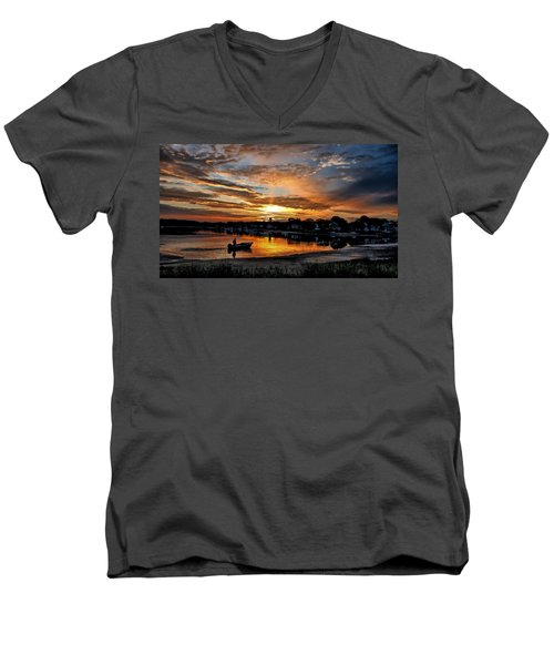 Sunrise At Back Cove Men's V-Neck T-Shirt