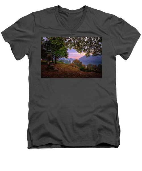 Sunrise At River Rd  Men's V-Neck T-Shirt