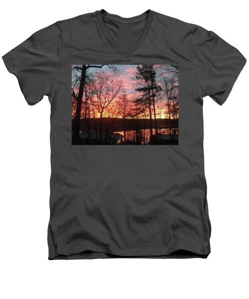 Sunrise At Carolina Trace Men's V-Neck T-Shirt