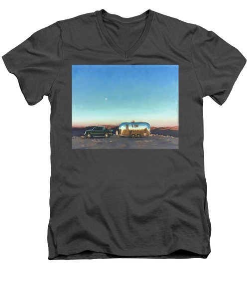 Sunrise At Gooseneck Canyon. Men's V-Neck T-Shirt