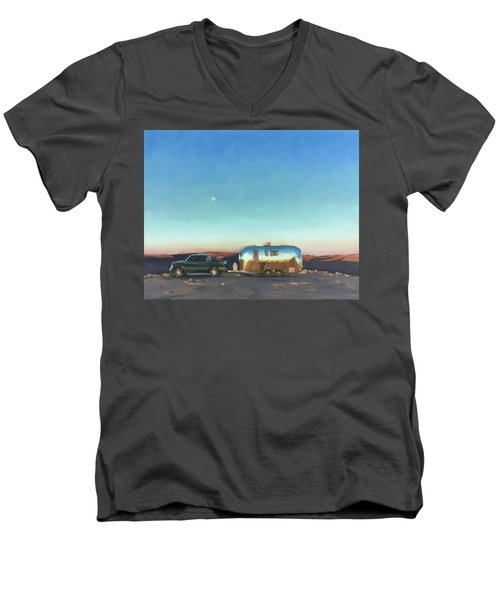 Sunrise At Gooseneck Canyon. Men's V-Neck T-Shirt
