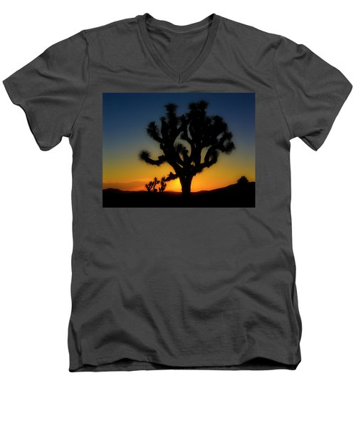 Sunrise At Joshua Men's V-Neck T-Shirt