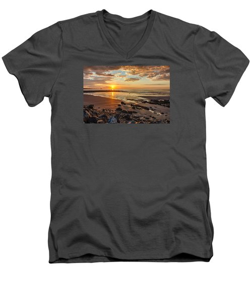 Sunrise At Long Sands Men's V-Neck T-Shirt
