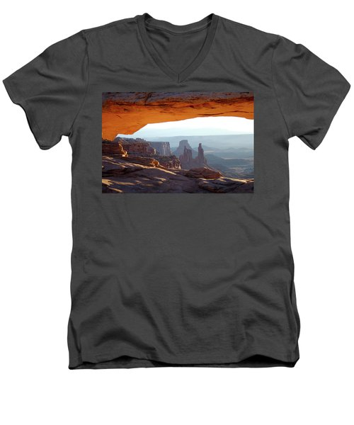 Sunrise At Mesa Arch Men's V-Neck T-Shirt