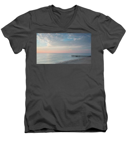 Sunrise At Sandbridge, Va Men's V-Neck T-Shirt