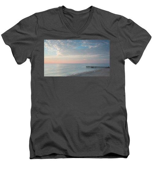 Sunrise At Sandbridge, Va Men's V-Neck T-Shirt