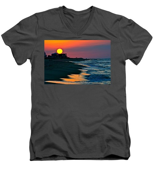 Sunrise At St. George Island Florida Men's V-Neck T-Shirt