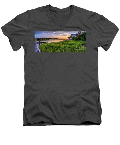 Sunrise At The Boat Ramp Men's V-Neck T-Shirt