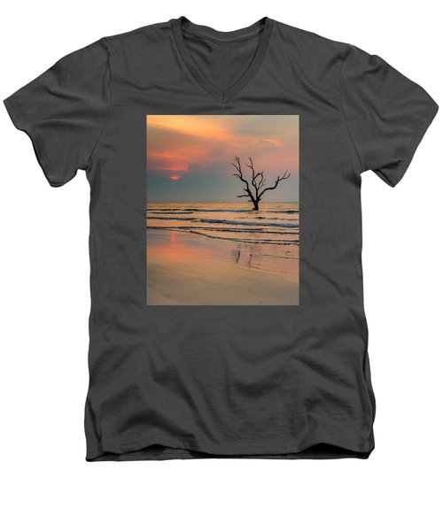 Men's V-Neck T-Shirt featuring the photograph Sunrise At The Boneyard by Patricia Schaefer