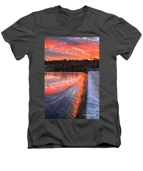 Sunrise At The Dam Men's V-Neck T-Shirt