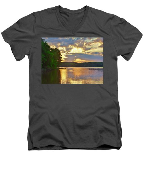 Sunrise At The Landing Men's V-Neck T-Shirt
