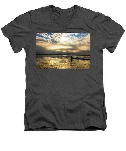 Sunrise Burning Men's V-Neck T-Shirt