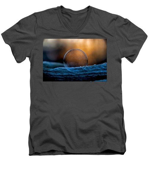 Sunrise Capture In Bubble Men's V-Neck T-Shirt