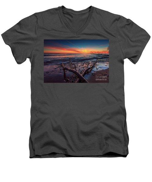 Sunrise Crossing  Men's V-Neck T-Shirt