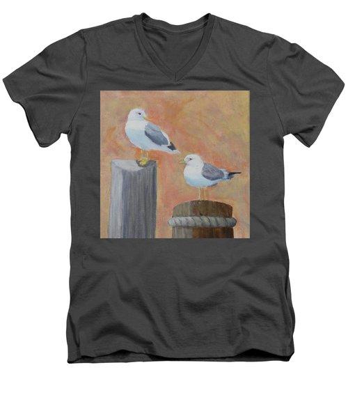 Sunrise Delight Men's V-Neck T-Shirt