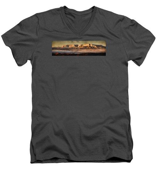 Sunrise Glow Pano Pnt Men's V-Neck T-Shirt