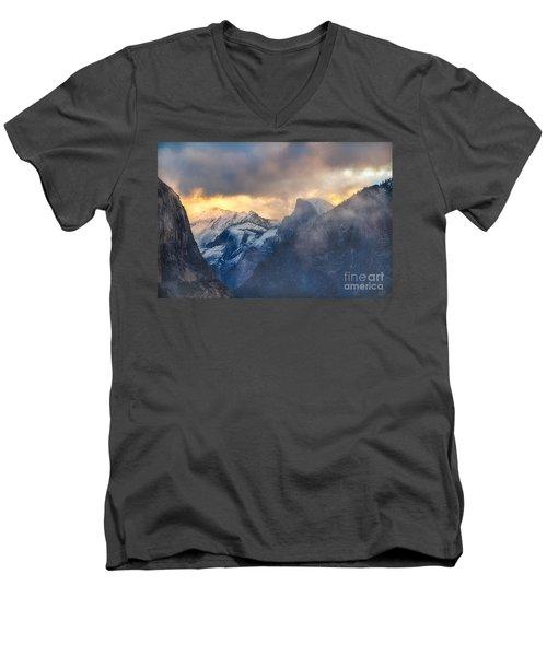 Sunrise Half Dome Men's V-Neck T-Shirt