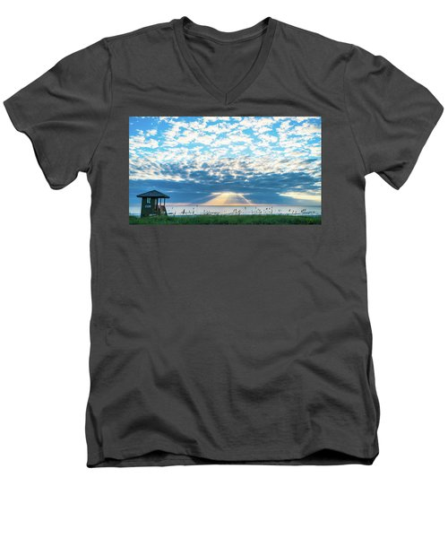 Sunrise Hope Delray Beach Florida Men's V-Neck T-Shirt