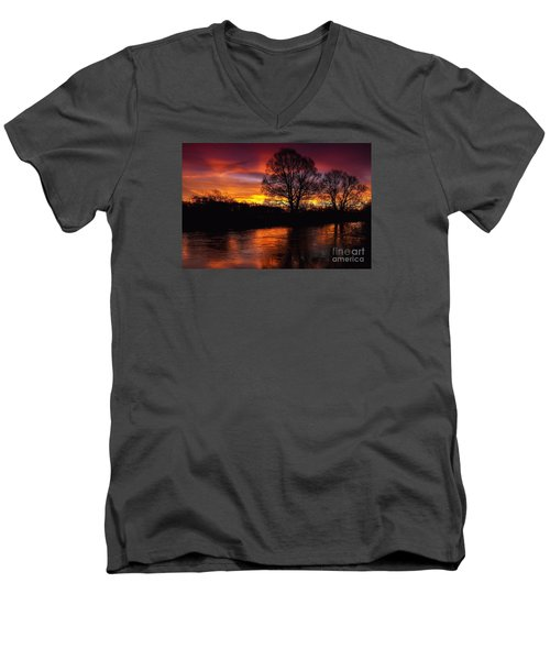 Men's V-Neck T-Shirt featuring the photograph Sunrise II by Franziskus Pfleghart