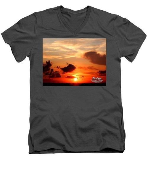 Sunrise In Ammannsville Texas Men's V-Neck T-Shirt