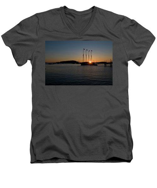 Sunrise In Bar Harbor Men's V-Neck T-Shirt