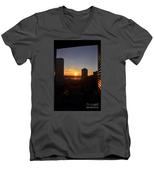 Sunrise In New Orleans Men's V-Neck T-Shirt