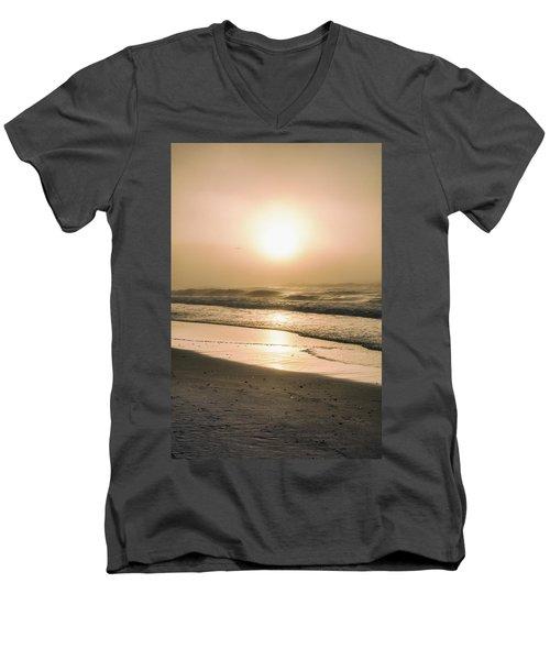 Men's V-Neck T-Shirt featuring the photograph Sunrise In Orange Beach  by John McGraw