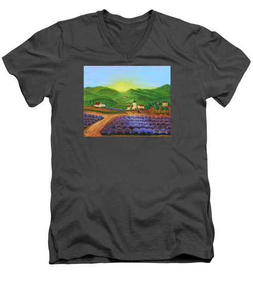 Sunrise In Tuscany Men's V-Neck T-Shirt