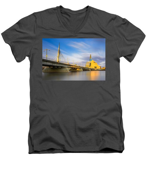Sunrise In Winnipeg Men's V-Neck T-Shirt