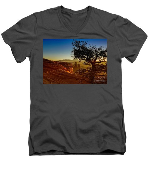 Sunrise Inspiration Men's V-Neck T-Shirt by Kristal Kraft