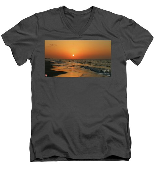 Sunrise Mexico Beach 3 Men's V-Neck T-Shirt