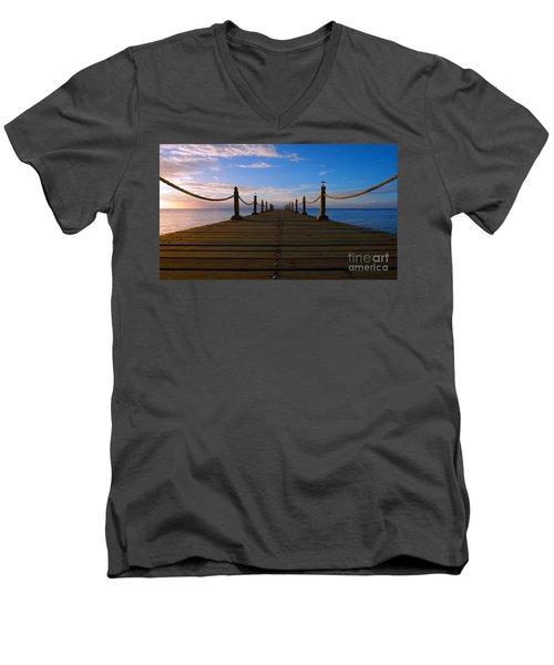 Sunrise Morning Bliss Pier 140a Men's V-Neck T-Shirt