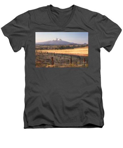 Sunrise Mount Shasta Men's V-Neck T-Shirt