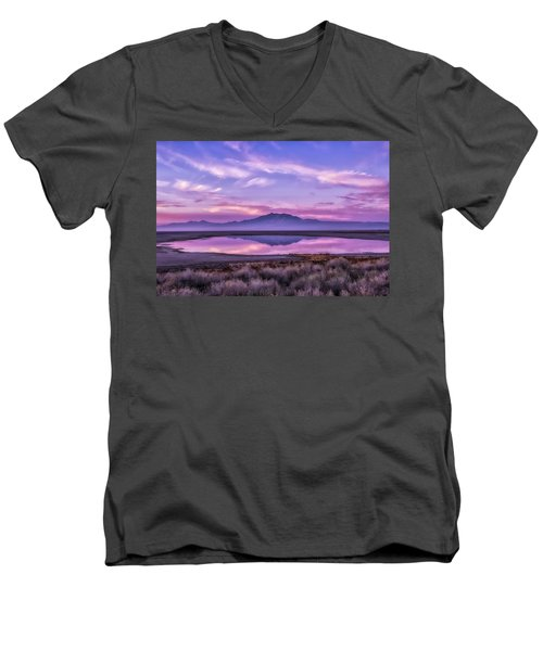 Sunrise On Antelope Island Men's V-Neck T-Shirt by Kristal Kraft