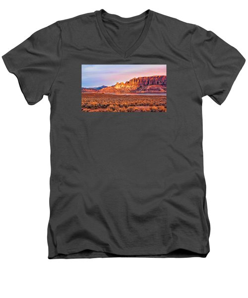 Sunrise On Dillon Pinnacles Men's V-Neck T-Shirt