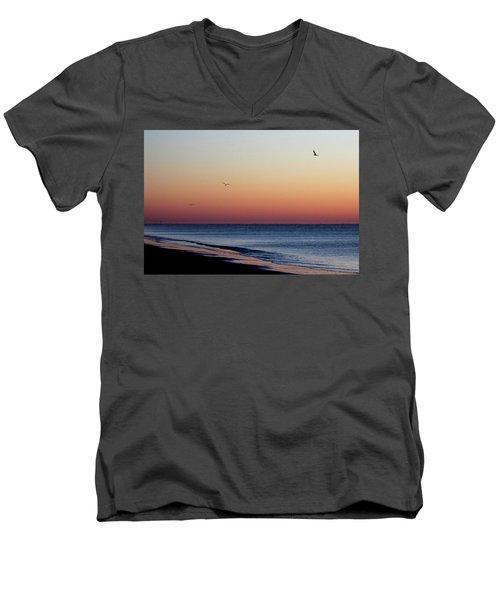 Men's V-Neck T-Shirt featuring the photograph Sunrise On Hilton Head by Bruce Patrick Smith