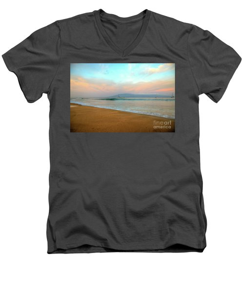 Sunrise On Ka'anapali Men's V-Neck T-Shirt by Kelly Wade