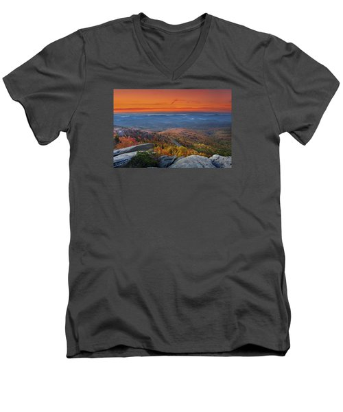 Sunrise On Rough Ridge  Men's V-Neck T-Shirt