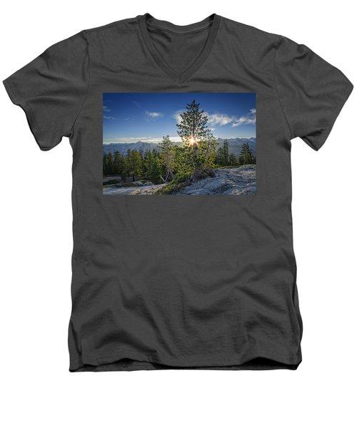 Sunrise On Sentinel Dome Men's V-Neck T-Shirt