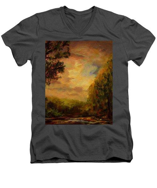 Sunrise On The River Men's V-Neck T-Shirt