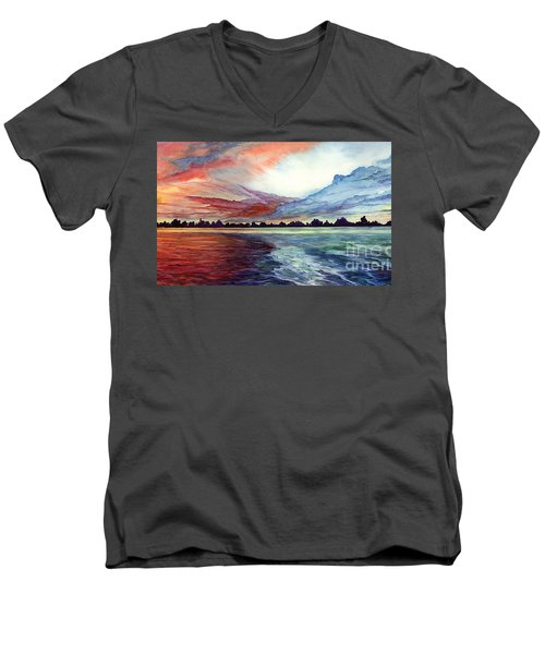 Sunrise Over Indian Lake Men's V-Neck T-Shirt