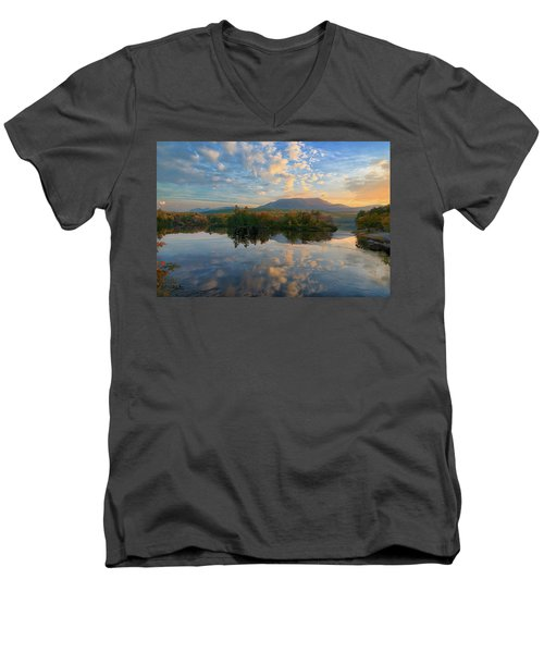 Sunrise Over Mt. Katahdin Men's V-Neck T-Shirt