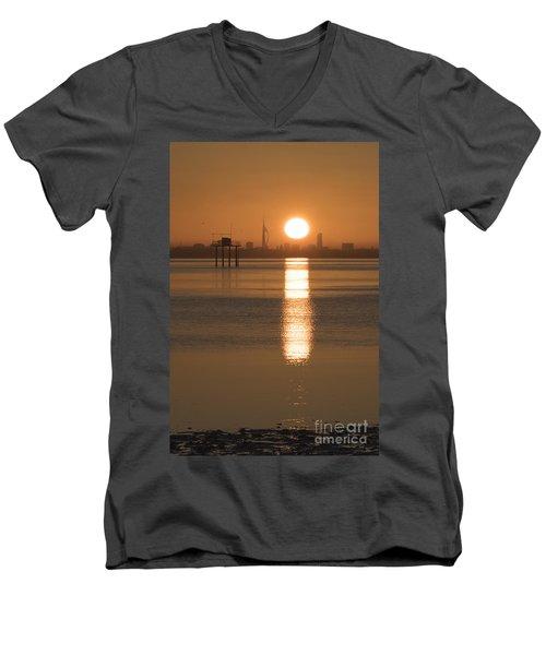 Sunrise Over Portsmouth Men's V-Neck T-Shirt