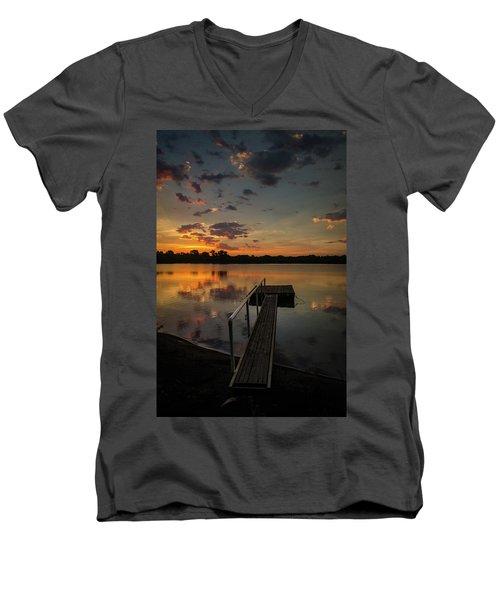 Sunrise Over Stuber's Dock V Men's V-Neck T-Shirt