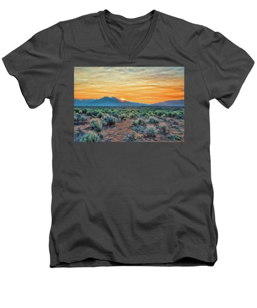 Sunrise Over Taos Men's V-Neck T-Shirt