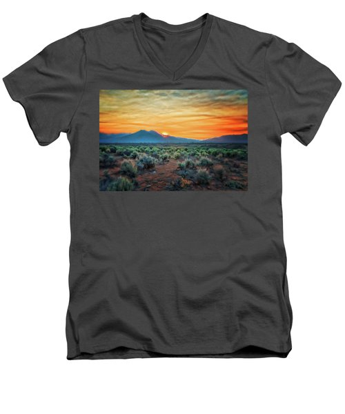 Sunrise Over Taos II Men's V-Neck T-Shirt