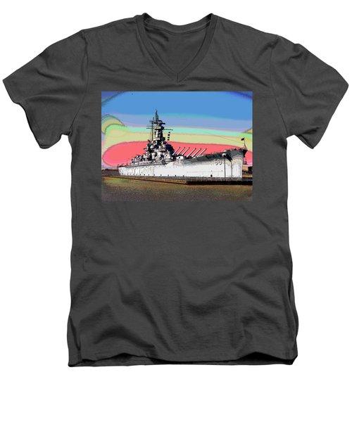 Sunrise Over The Alabama Men's V-Neck T-Shirt by Charles Shoup