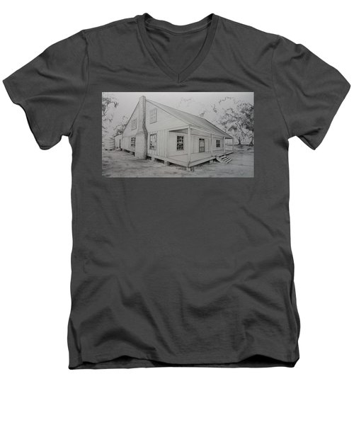 Sunrise Plantation  Men's V-Neck T-Shirt
